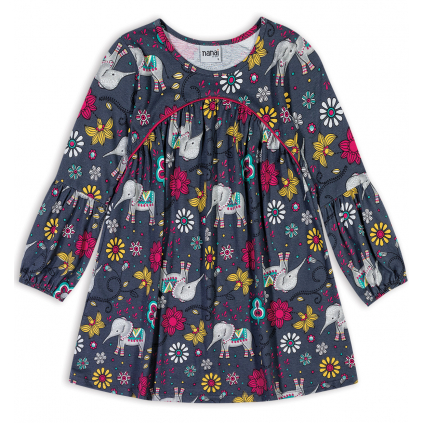 Dievčenské šaty NANAI SLONY šedé
