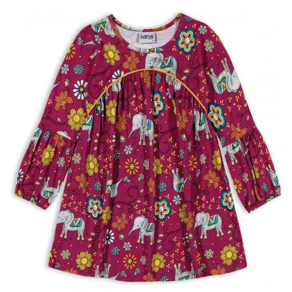 Dievčenské šaty NANAI SLONY vínové