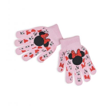 Dievčenské rukavice DISNEY MINNIE EYES svetloružové