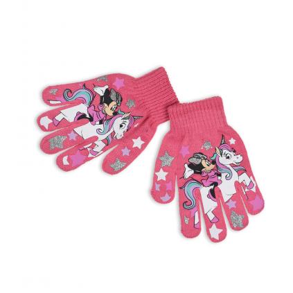 Dievčenské rukavice DISNEY MINNIE a JEDNOROŽEC ružové