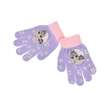 Dievčenské rukavice L.O.L SURPRISE fialové