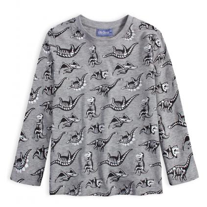 Chlapčenské tričko GLO STORY DINOSAURI šedé