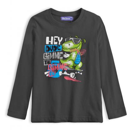 Chlapčenské tričko GLO STORY DINO HEY tmavošedé