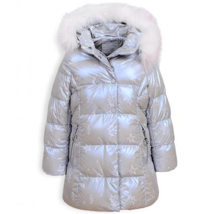 Dievčenský kabát GLO STORY PALLETTE svetlošedý