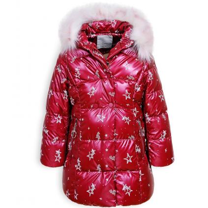 Dievčenský kabát GLO STORY PALLETTE vínový