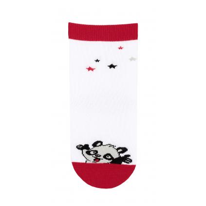 Dievčenské ponožky so vzorom GATTA PANDA biele