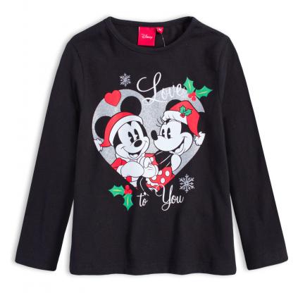 Dievčenské tričko DISNEY MINNIE LOVE YOU čierne