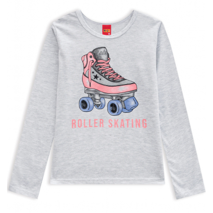 Dievčenské tričko KYLY ROLLER SKATING šedé