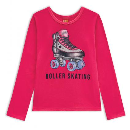 Dievčenské tričko KYLY ROLLER SKATING ružové