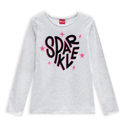 Dievčenské tričko AMORA SPARKLE šedý melír