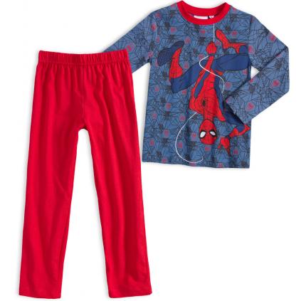 Chlapčenské pyžamo MARVEL SPIDERMAN PAVUČINY modročervené