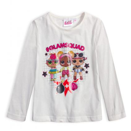 Dievčenské tričko L.O.L SURPRISE GLAMSQUAD biele
