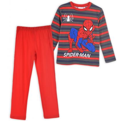 Chlapčenské pyžamo MARVEL SPIDERMAN červené pruhy