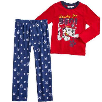 Chlapčenské pyžamo PAW PATROL READY FOR BED červené