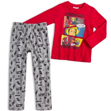 Chlapčenské pyžamo FIREMAN SAM HERO červené