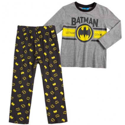 Chlapčenské pyžamo BATMAN GOTHAM CITY tmavo šedé