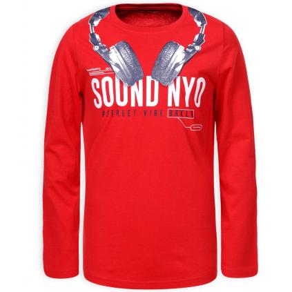 Chlapčenské tričko GLO STORY SOUND červené