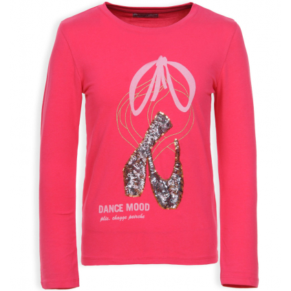 Dievčenské tričko GLO STORY DANCE MOOD ružové
