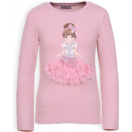 Dievčenské tričko GLO STORY BALETKA ružové