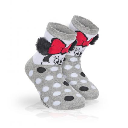 Dievčenské termo ponožky DISNEY MINNIE BRMBOLCE šedé