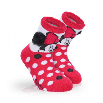 Dievčenské termo ponožky DISNEY MINNIE BRMBOLCE ružové