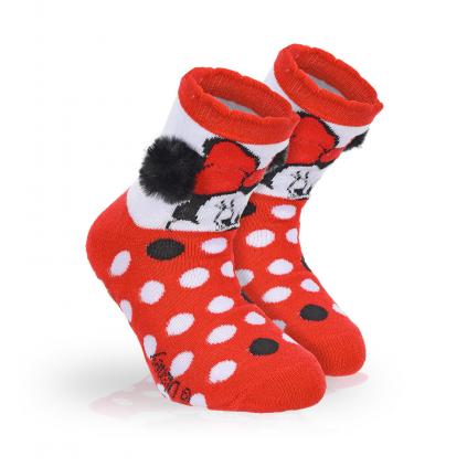 Dievčenské termo ponožky DISNEY MINNIE BRMBOLCE červené