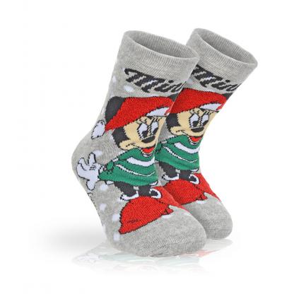 Dievčenské termo ponožky DISNEY MINNIE WINTER TIME šedé