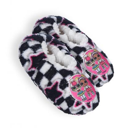 Dievčenské papučky L.O.L.SURPRISE čiernobiele