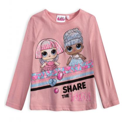 Dievčenské tričko L.O.L SURPRISE SPARKLE svetlo ružové