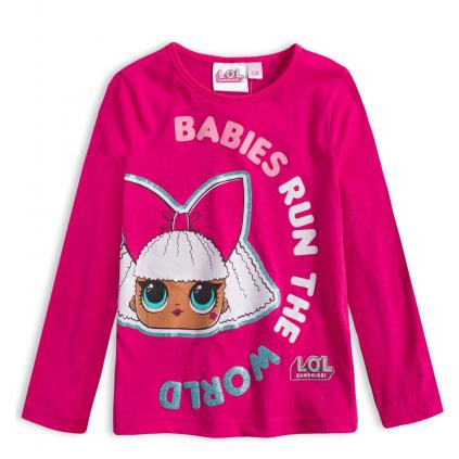 Dievčenské tričko L.O.L SURPRISE BABIES RUN tmavo ružové