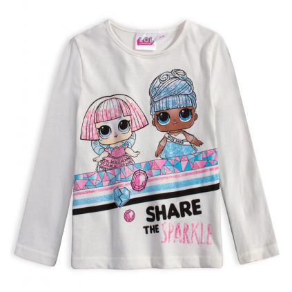 Dievčenské tričko L.O.L SURPRISE SPARKLE biele