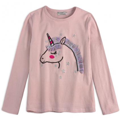 Dievčenské tričko GLO STORY JEDNOROŽEC ružové