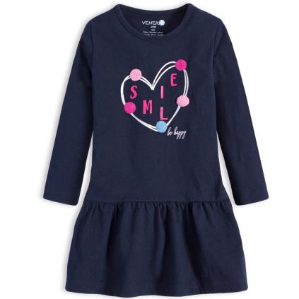 Dievčenské šaty VENERE SMILE modré