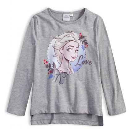 Dievčenské tričko DISNEY FROZEN LOVE šedé