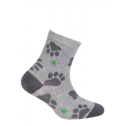 Chlapčenské ponožky so vzorom GATTA LABKY šedé