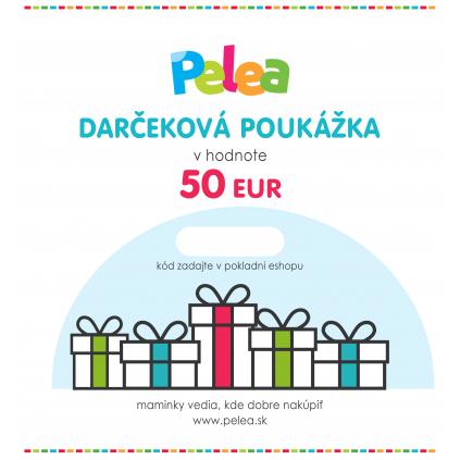 Darčeková poukážka 50 EUR
