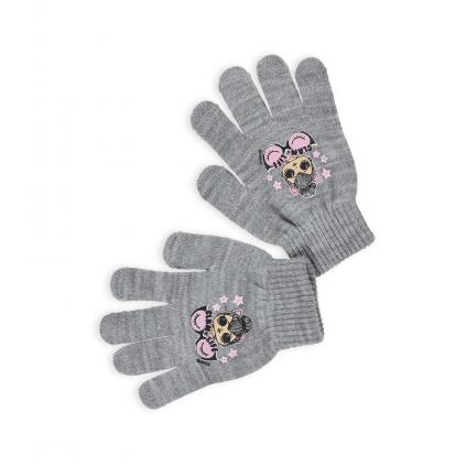 Dievčenské rukavice L.O.L SURPRISE GLAM LIFE šedé
