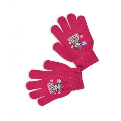 Dievčenské rukavice L.O.L SURPRISE tmavo ružové