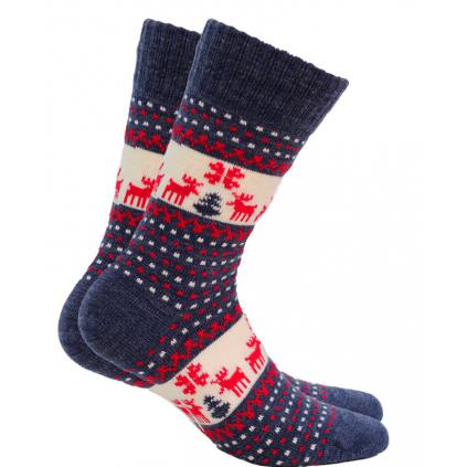 Vlnené ponožky WOLA SOBI modré