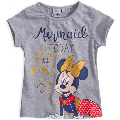 Dievčenské tričko DISNEY MINNIE MERMAID šedý melír