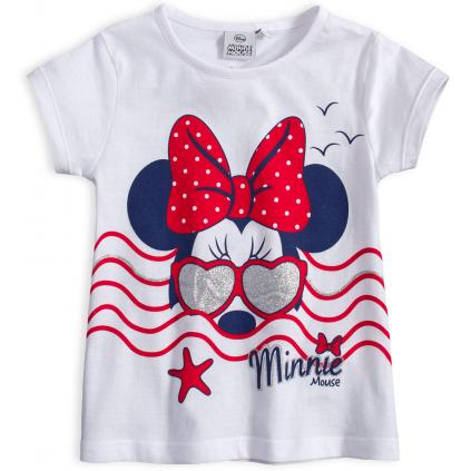 Dievčenské tričko DISNEY MINNIE IN THE SEA biele