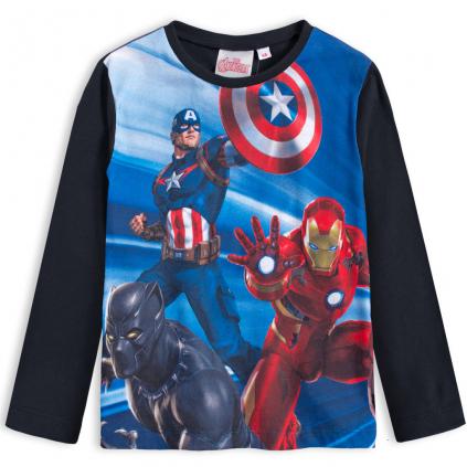 Chlapčenské tričko AVENGERS HERO čierne