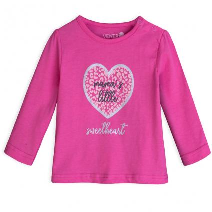 Tričko pre dievčatká VENERE SWEET HEART ružové