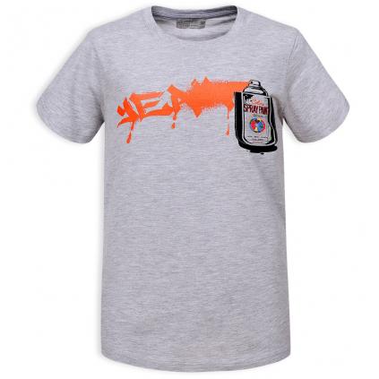 Chlapčenské tričko GLO STORY SPRAY PAINT šedé