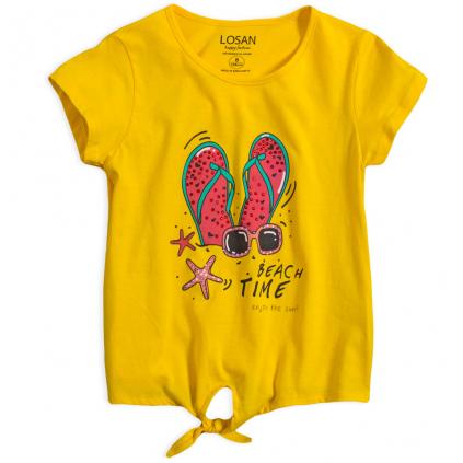 Dievčenské tričko LOSAN BEACH TIME žltá