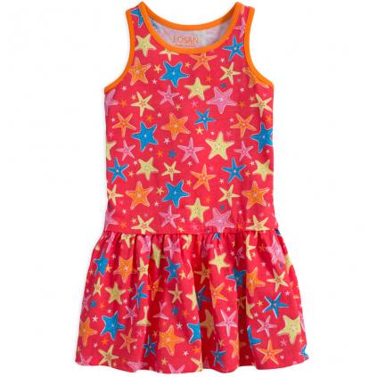 Dievčenské šaty LOSAN HVIEZDICE červené