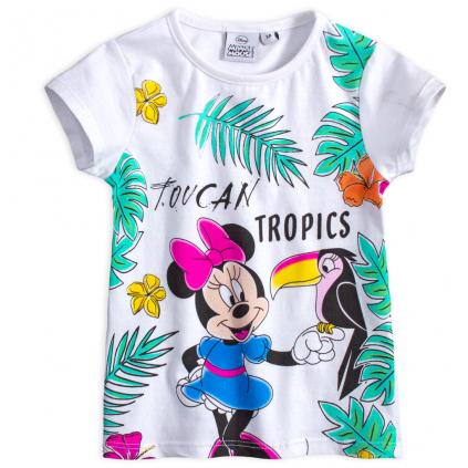 Dievčenské tričko DISNEY MINNIE TUCAN biele
