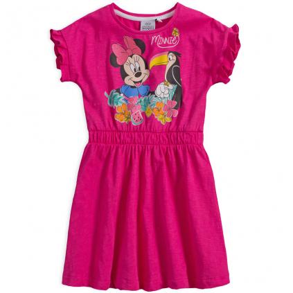 Dievčenské šaty DISNEY MINNIE s tukanom tmavoružové