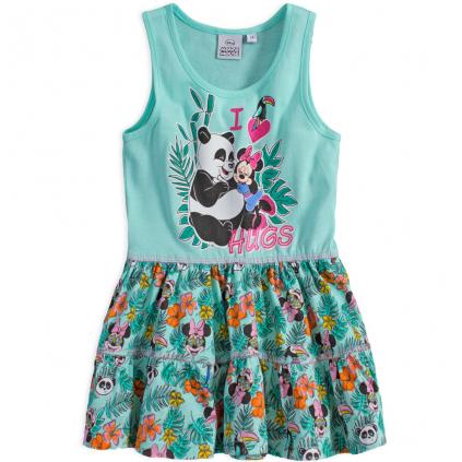 Dievčenské letné šaty DISNEY MINNIE PANDA HUGS zelené