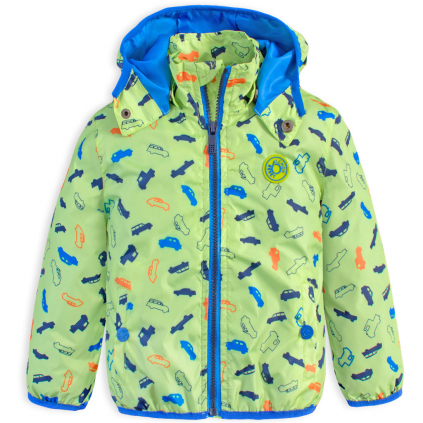 Chlapčenská jarná bunda LEMON BERET AUTÍČKA zelená